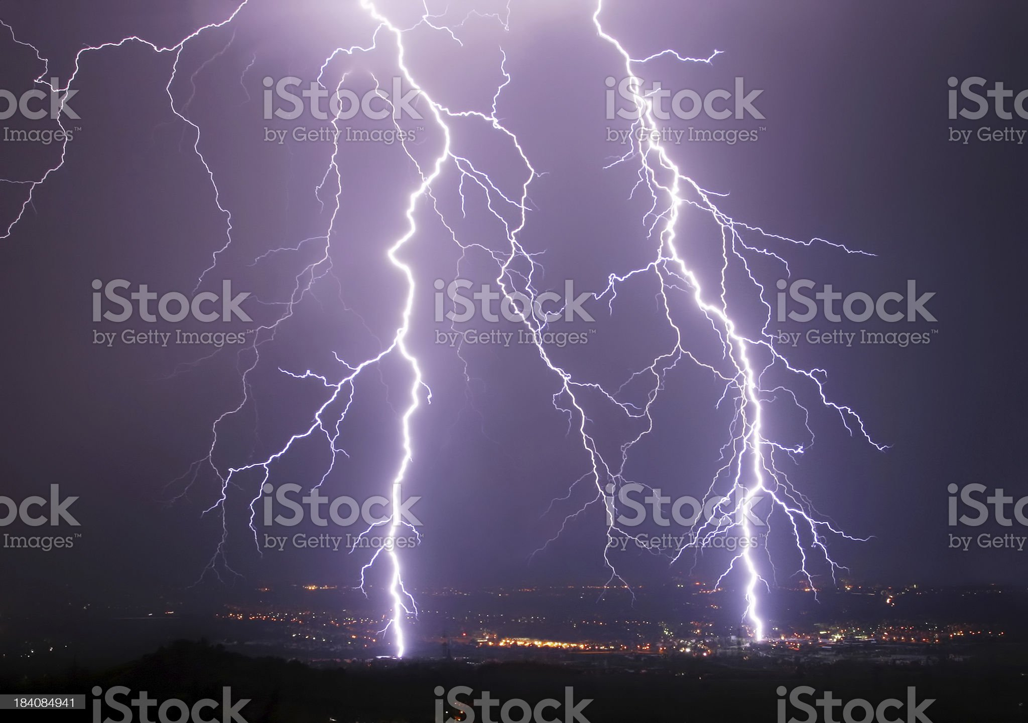 forked lightning royalty-free stock photo