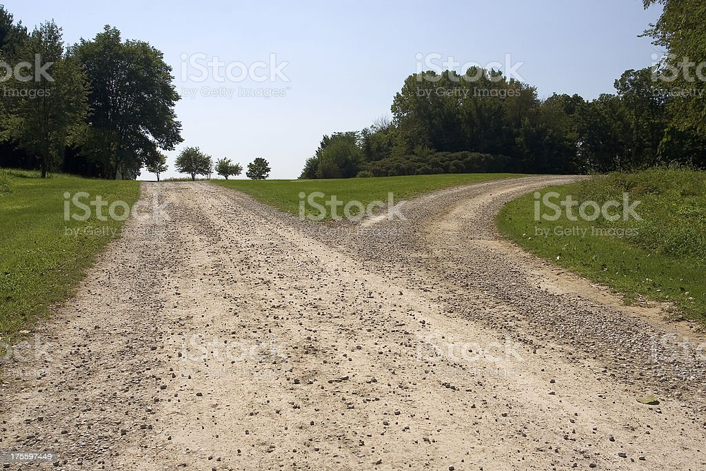 forked path 2 royalty-free stock photo