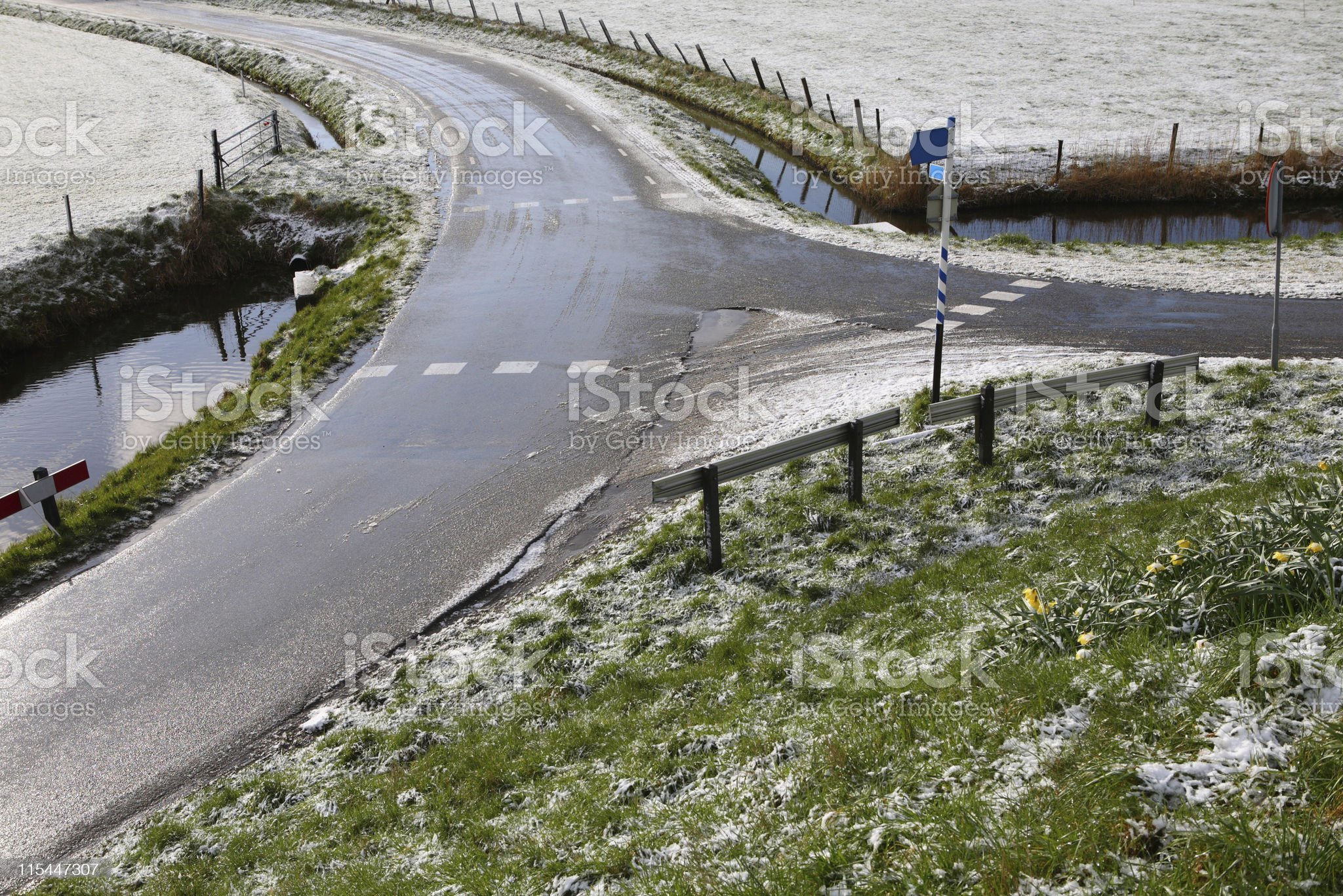 Forked Road royalty-free stock photo