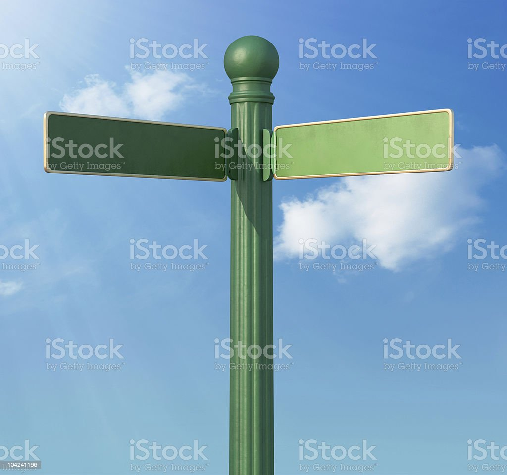 Forked Street Sign stock photo
