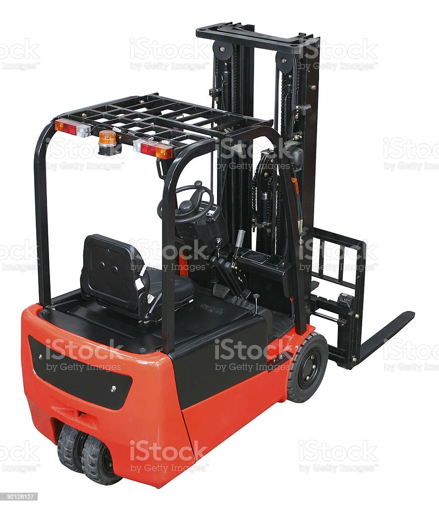 Forklift from my warehouse equipment series royalty-free stock photo