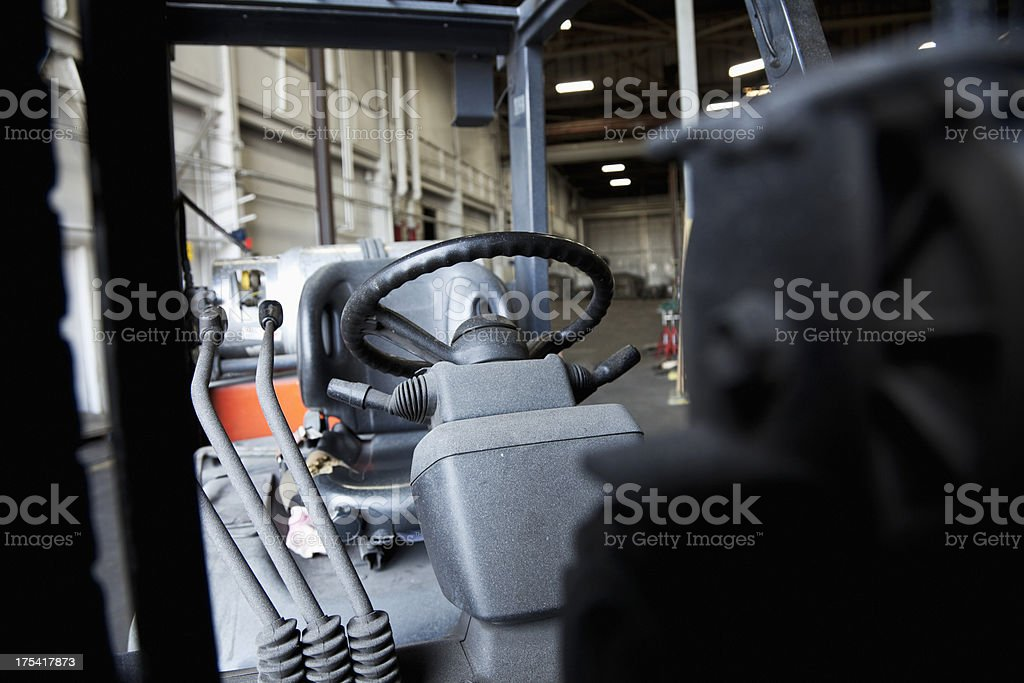 Forklift in a factory stock photo