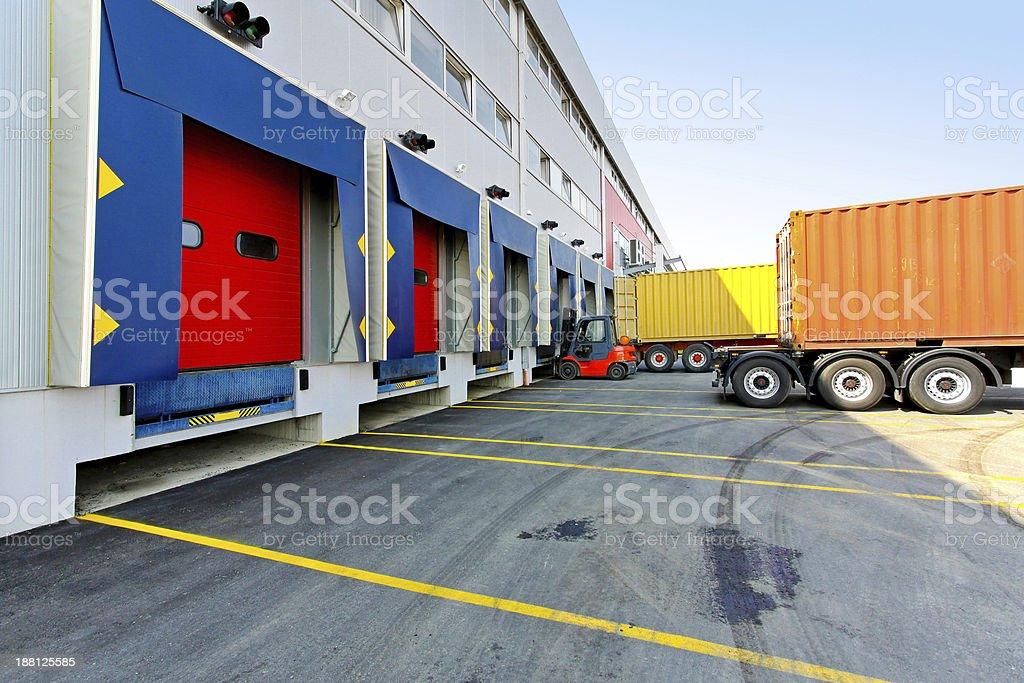Forklift loader stock photo