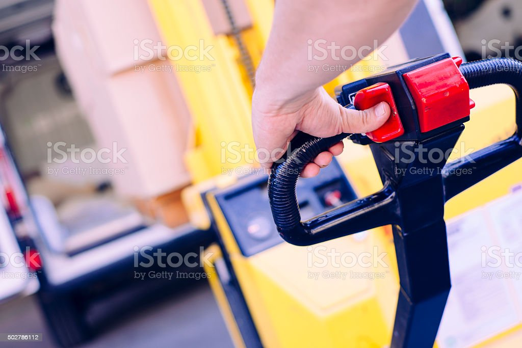 Forklift operation stock photo