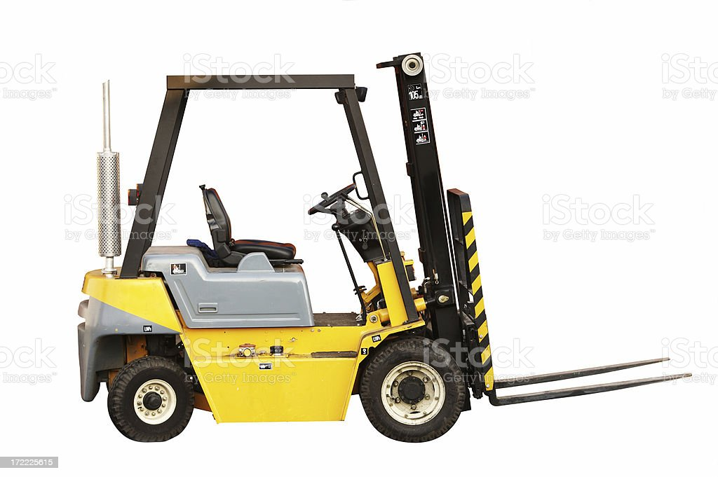 Forklift (isolated) royalty-free stock photo