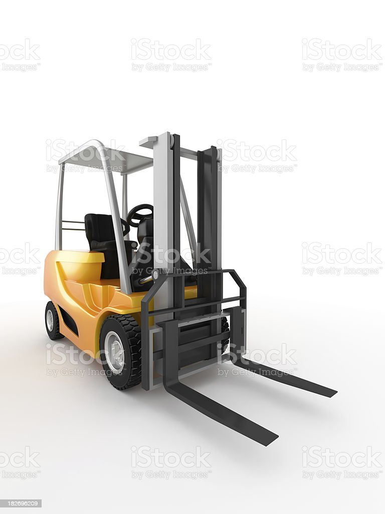 Forklift royalty-free stock photo
