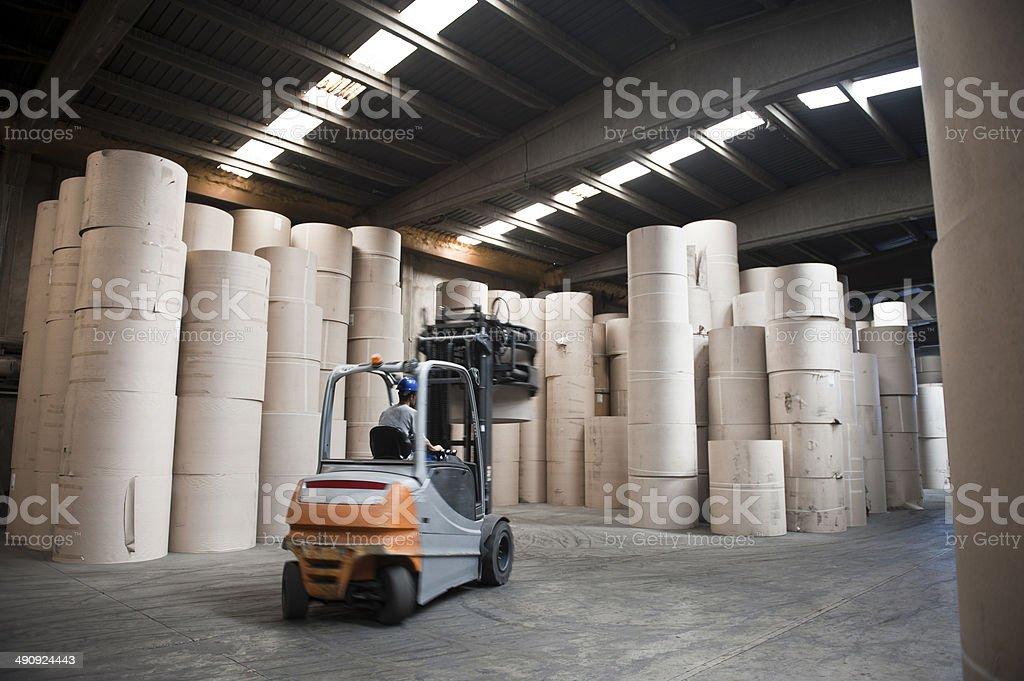 Forklift stock photo