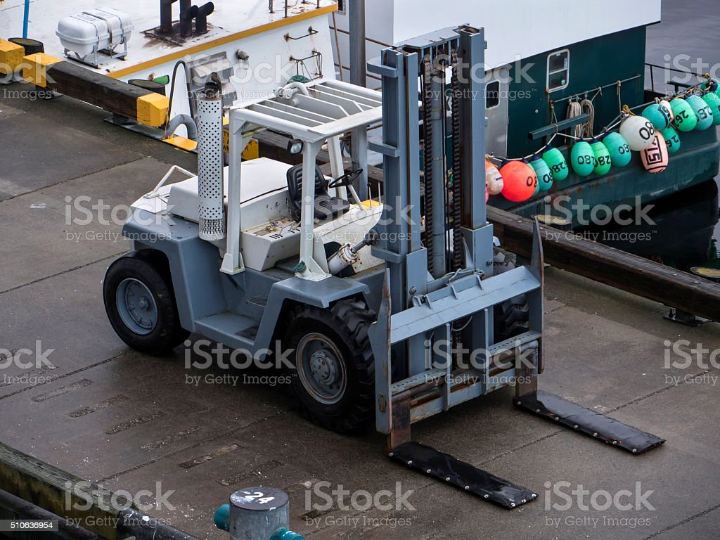 Forklift Shipping Dock stock photo