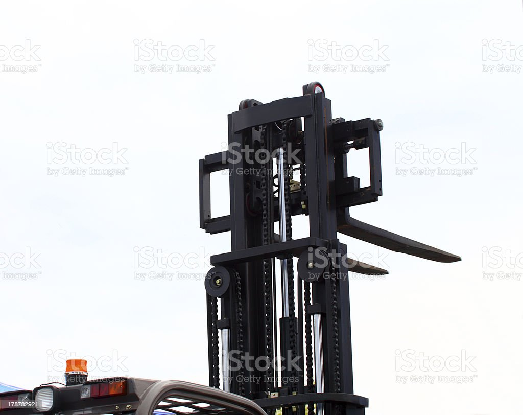 forklift stacker loader royalty-free stock photo