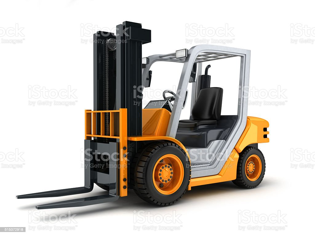 Forklift truck only stock photo