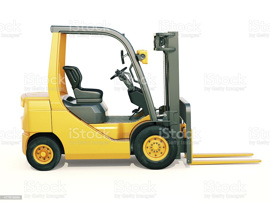 Forklift truck royalty-free stock photo