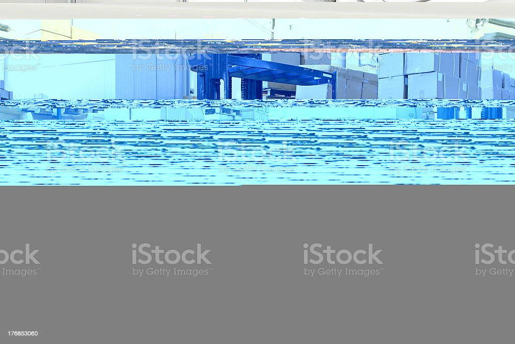 Forklift warehouse royalty-free stock photo