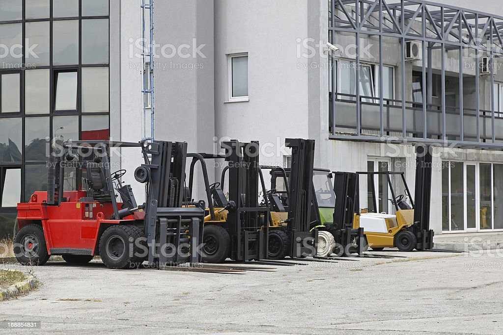 Forklifts royalty-free stock photo