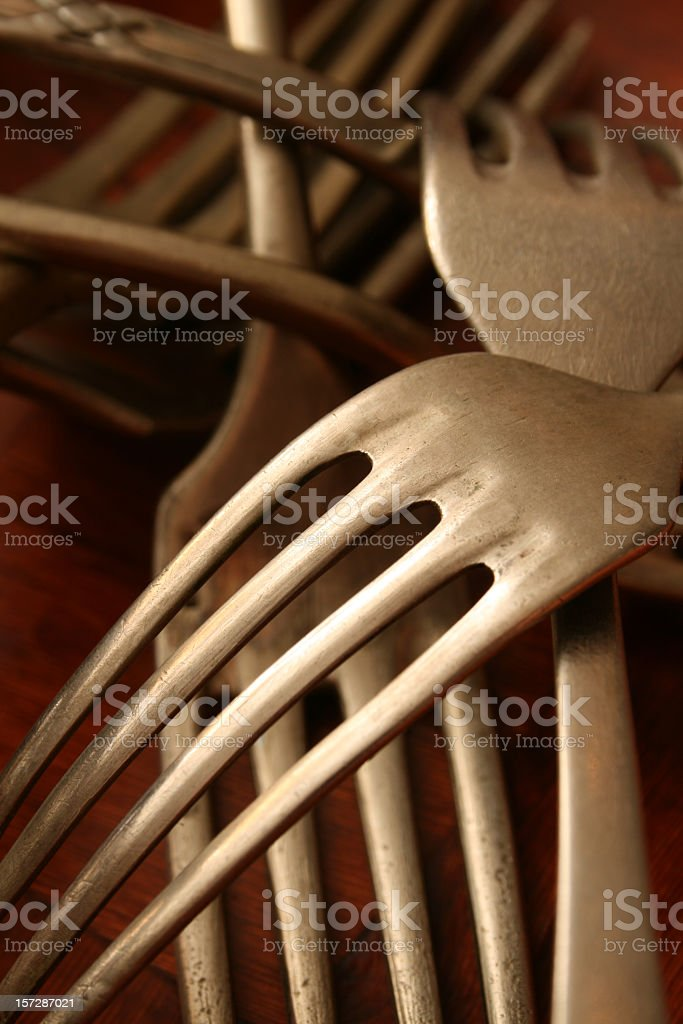 Forks still life royalty-free stock photo