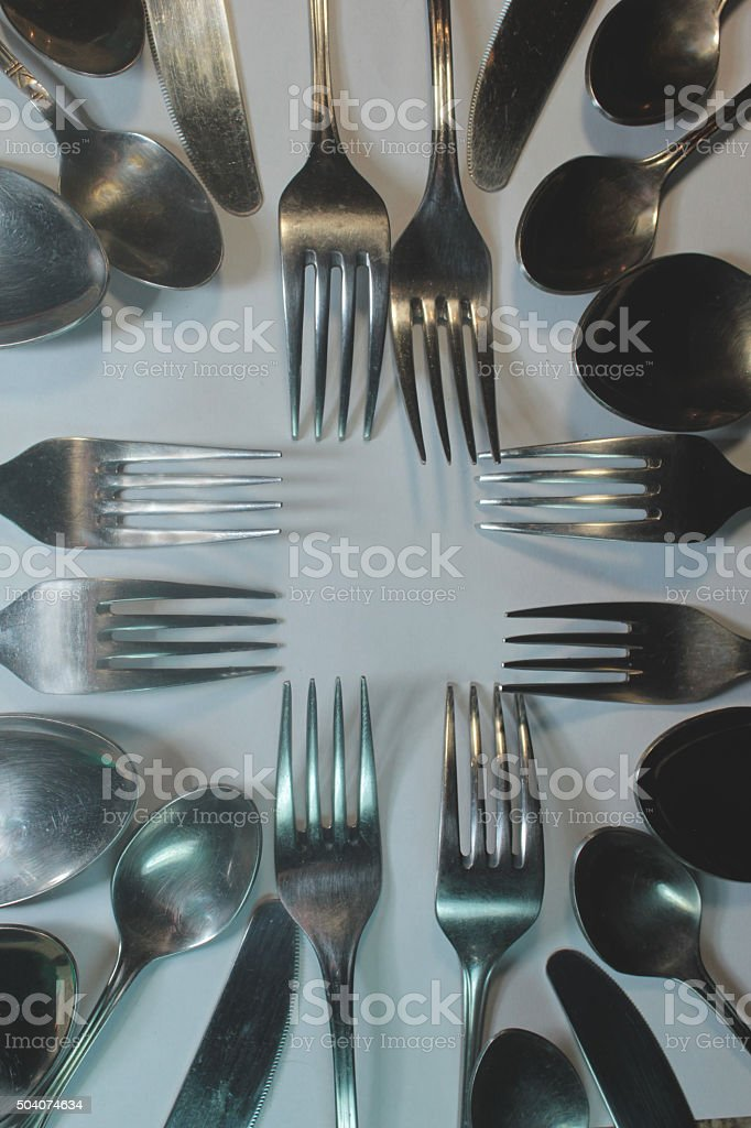 Forks_And_Spoons stock photo