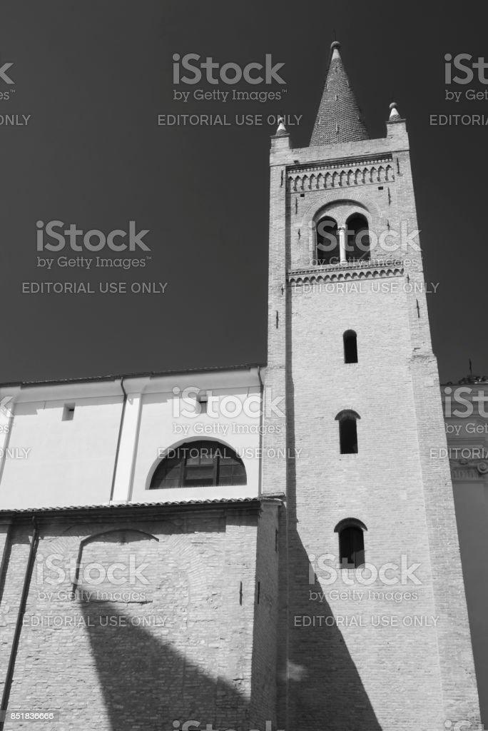 Forli (Italy): Santissima Trinita church stock photo