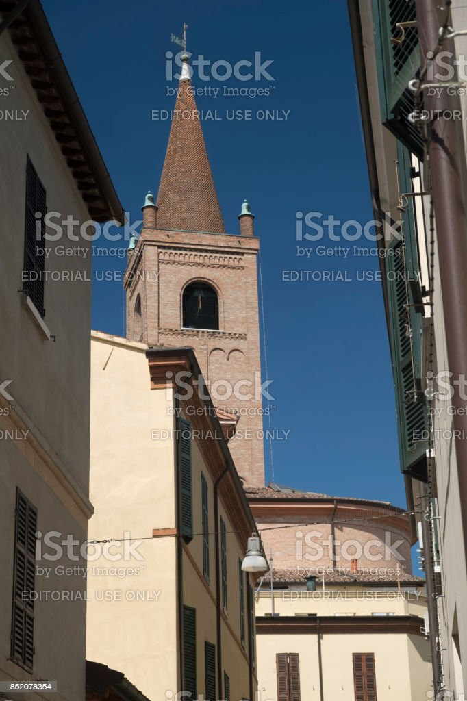 Forli (Italy): the cathedral stock photo