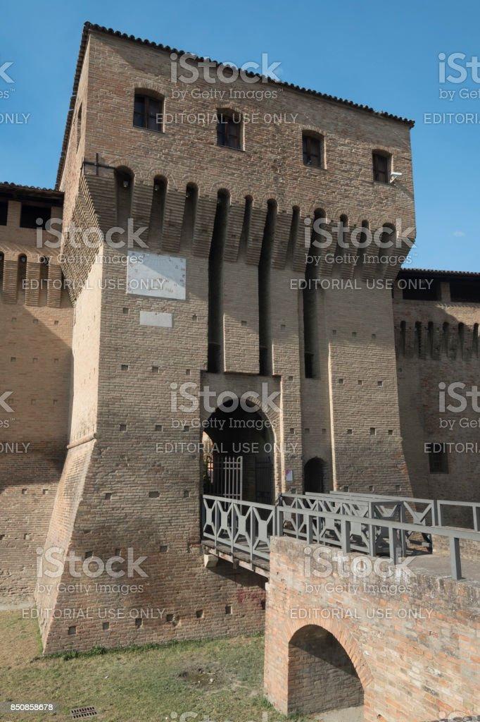 Forlimpopoli (Italy): the castle stock photo
