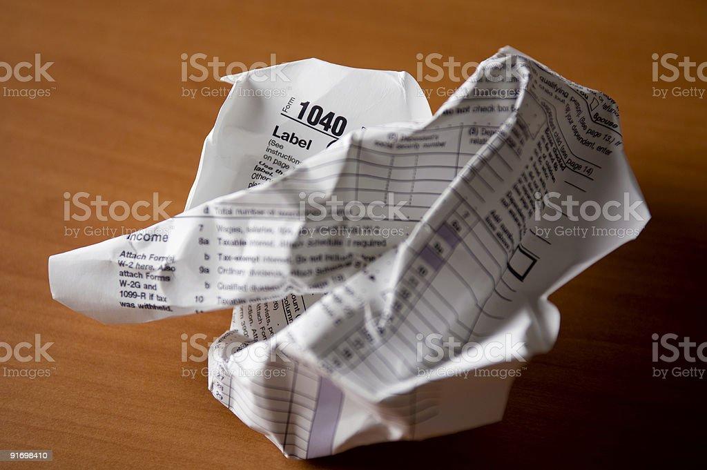 IRS Form 1040 stock photo