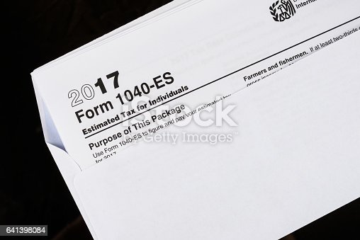 Form Es Estimated Tax For Individuals United States Tax Forms