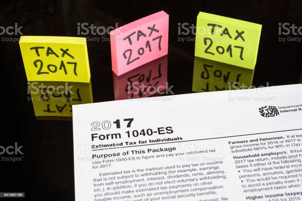 Form 1040Es Estimated Tax For Individuals United States Tax Forms