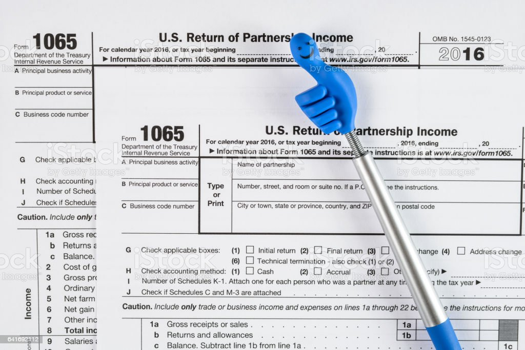 Form 1065 Us Return Of Partnership Income United States Tax Forms