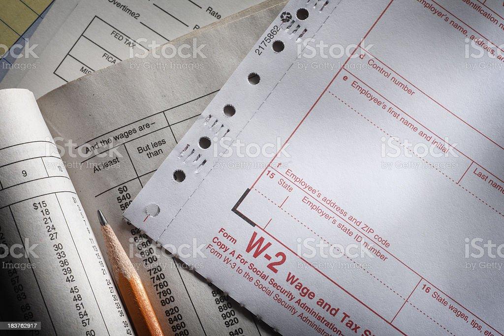 W-2 Form stock photo