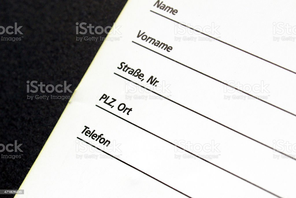 Form royalty-free stock photo