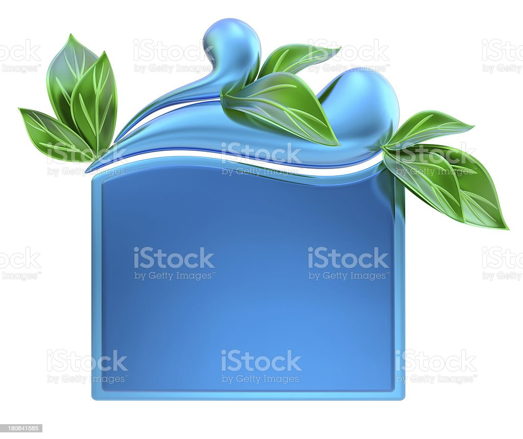 form with water drops and leafs royalty-free stock photo