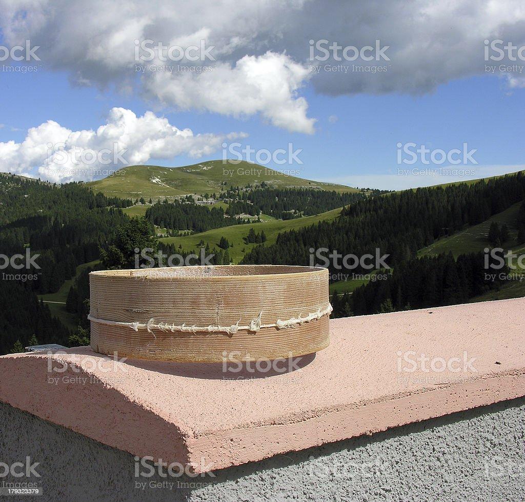 Formaggio in montagna stock photo