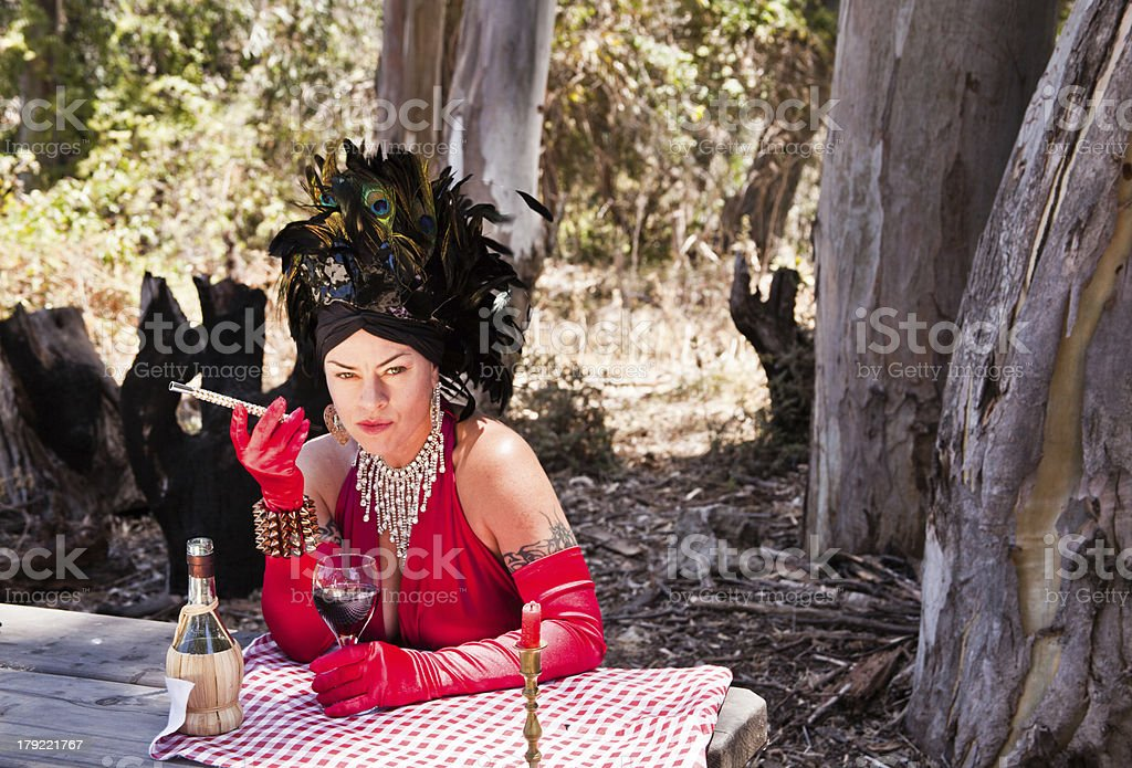 Formal Attire In The Forest royalty-free stock photo