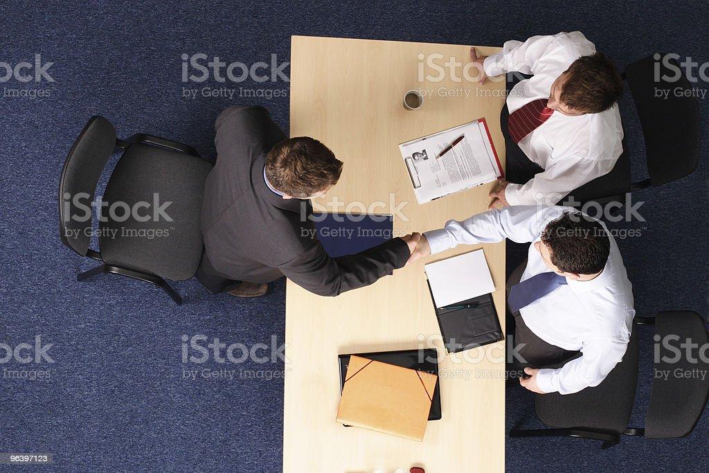 formal business handskake at the meeting royalty-free stock photo
