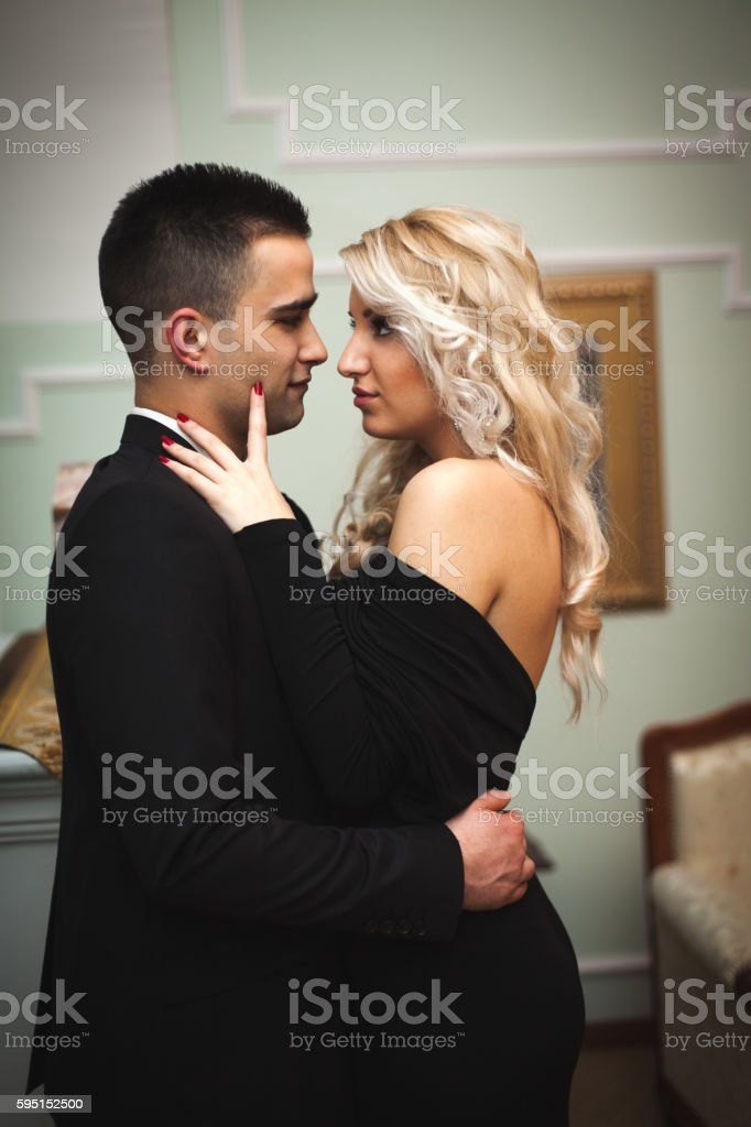Formal couple stock photo