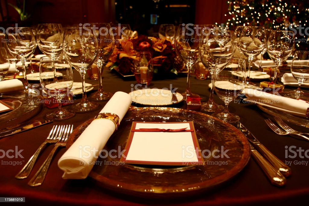Formal Dining Table royalty-free stock photo