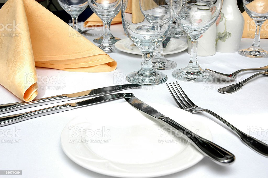 Formal Dinner Setting royalty-free stock photo