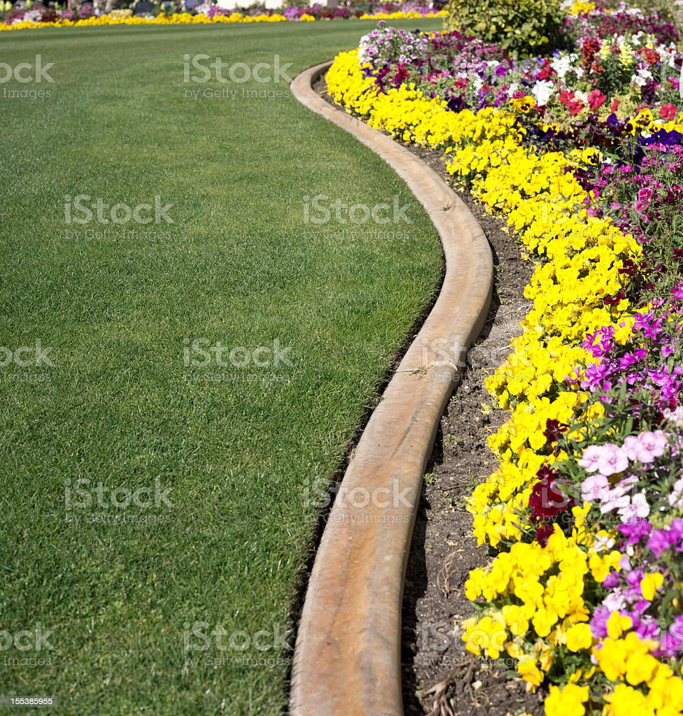 Formal Garden and lawn royalty-free stock photo