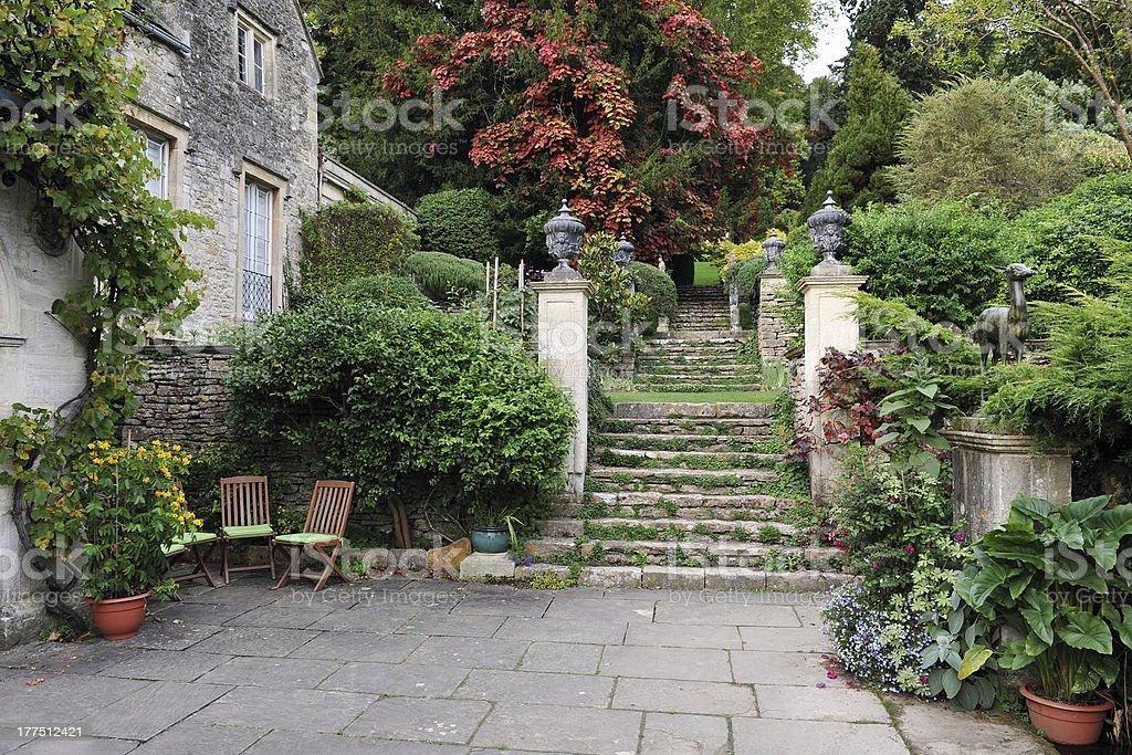 Formal Garden Courtyard royalty-free stock photo