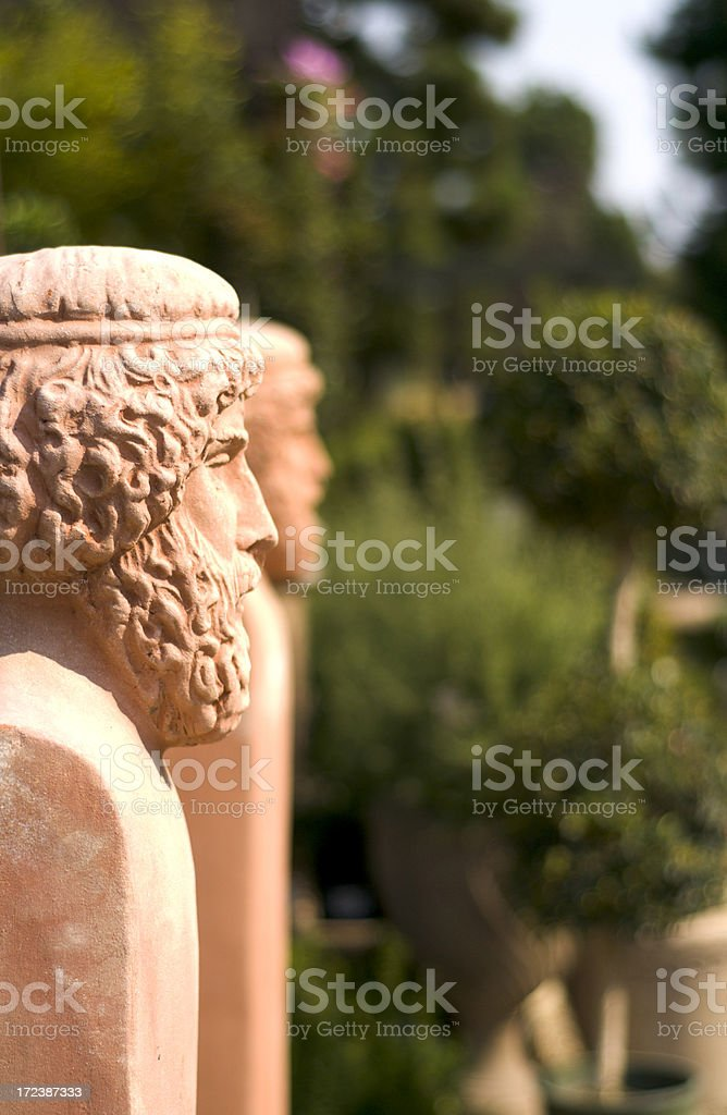 Formal Garden Landscape Sculpture & Statue Background royalty-free stock photo