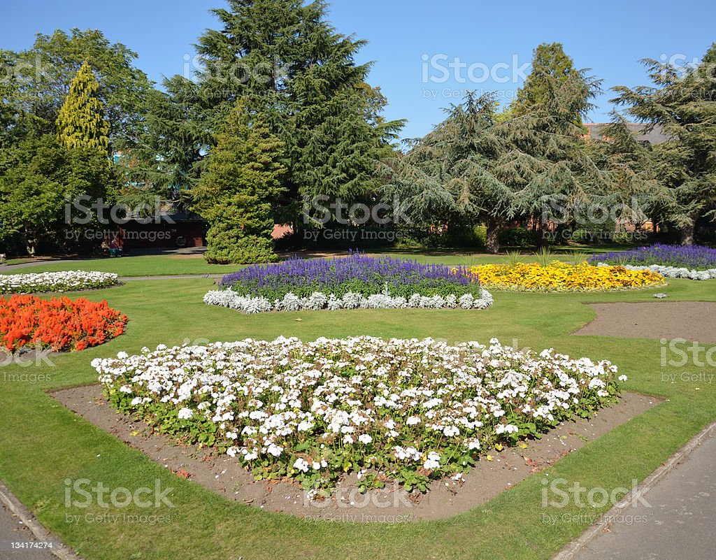 Formal Gardens in Chester City Park royalty-free stock photo