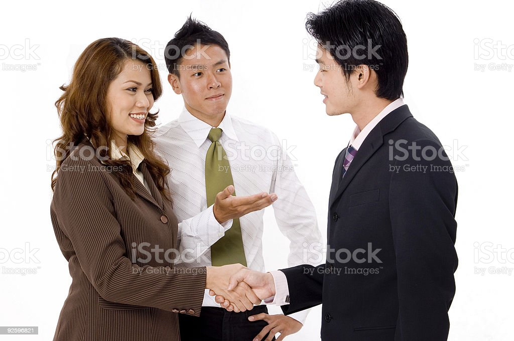 Formal Introduction stock photo