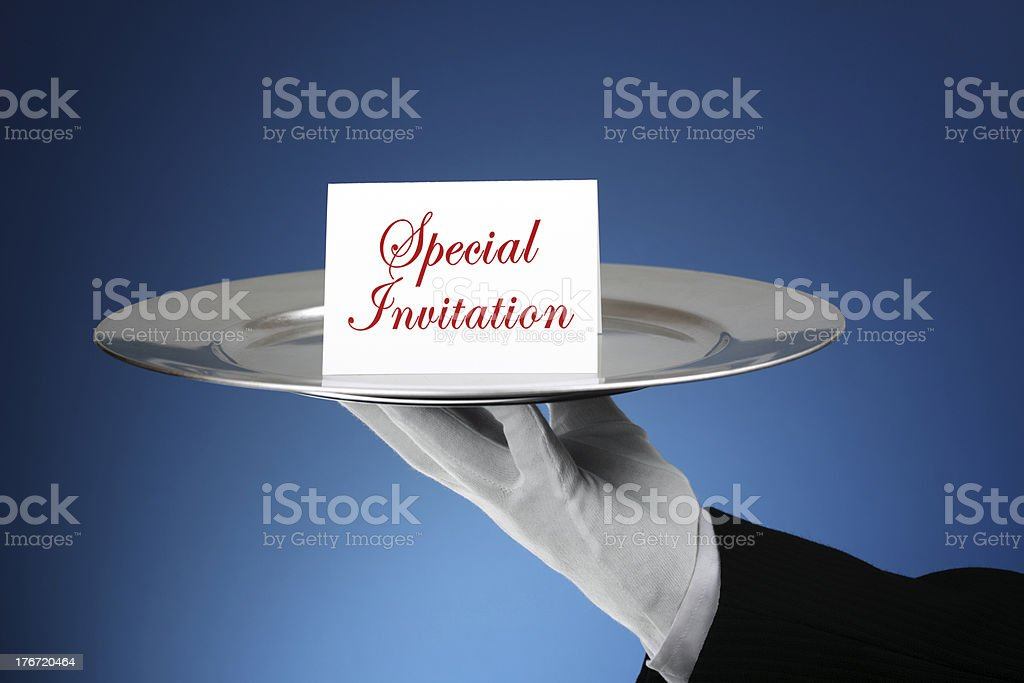 Formal invitation stock photo