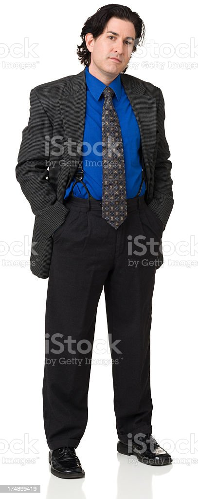 Formal Man Standing With Hands In Pockets royalty-free stock photo