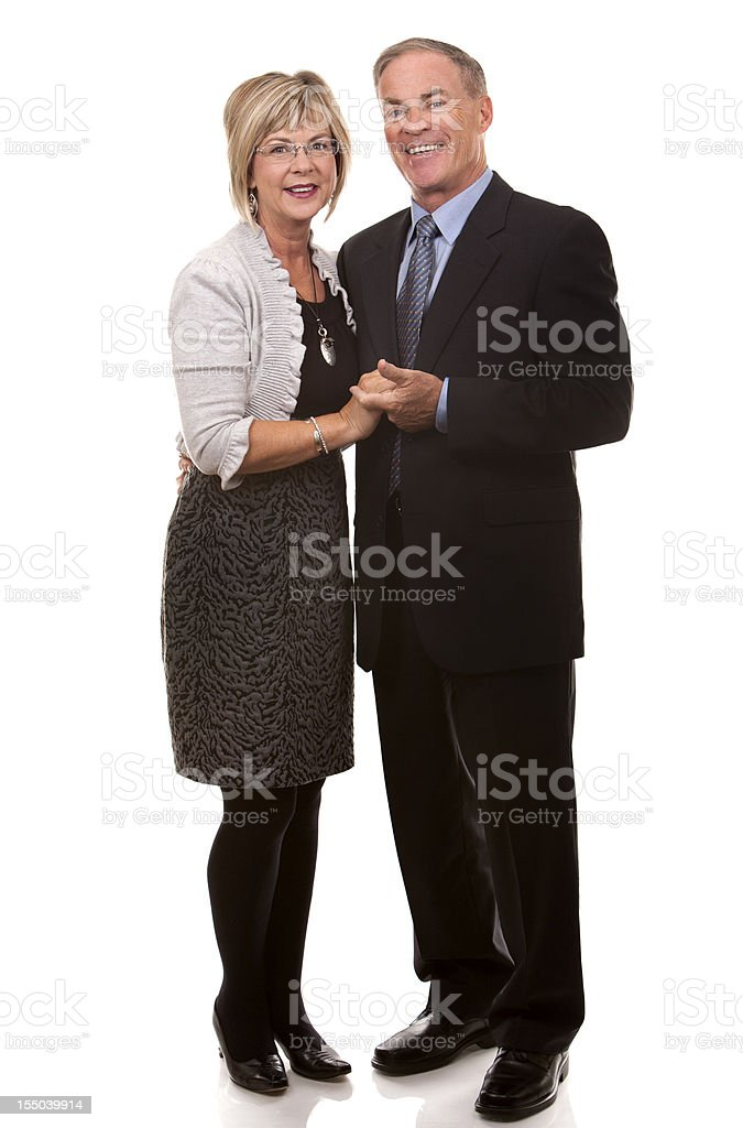 formal mature couple royalty-free stock photo