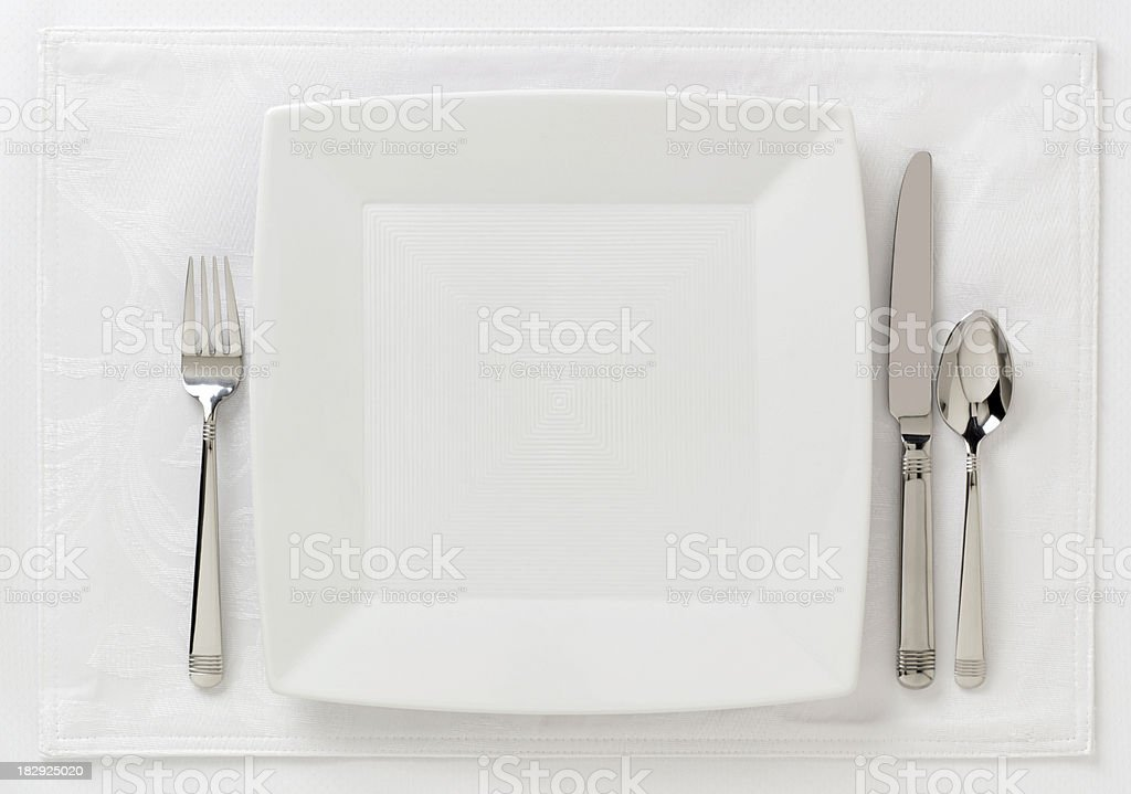 Formal Place Setting3 stock photo