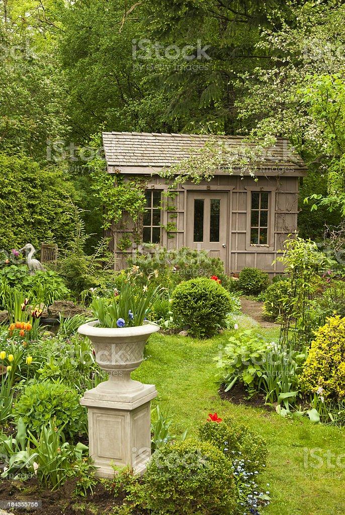 Formal Spring Garden stock photo