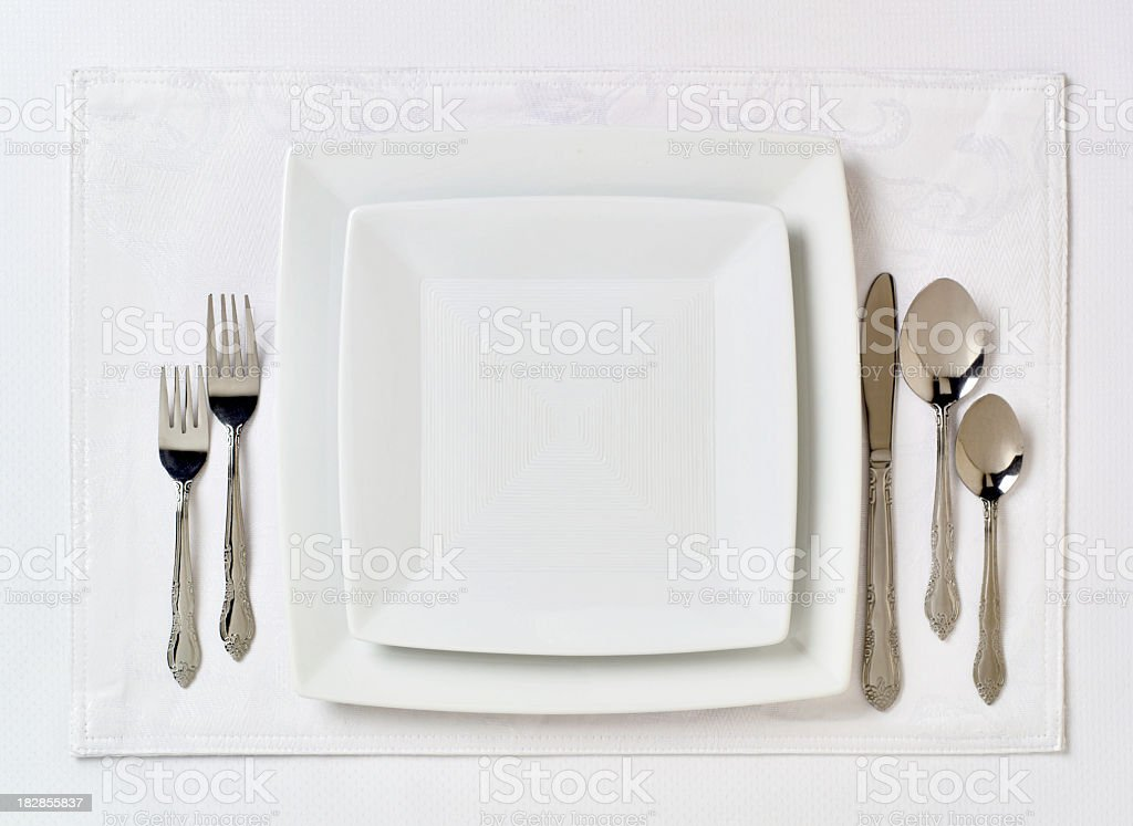 Formal table place setting 2 stock photo
