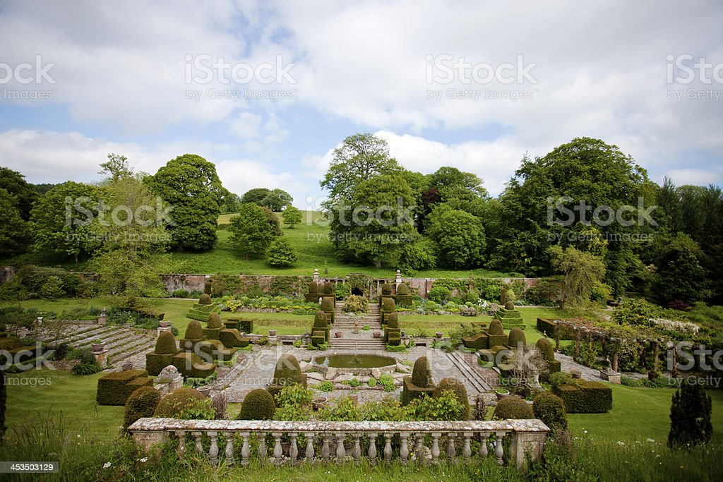 Formal topiary garden royalty-free stock photo