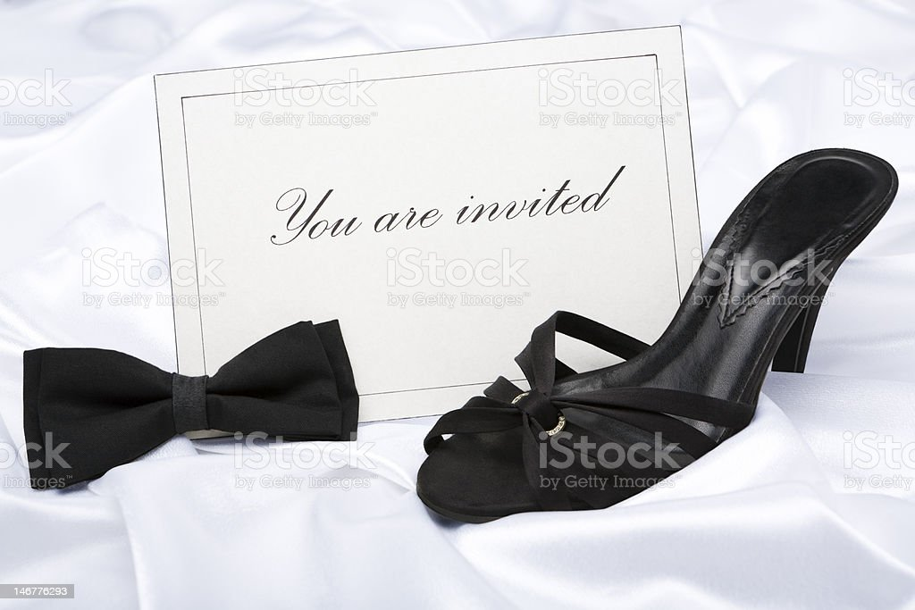 Formal wear party invitation royalty-free stock photo