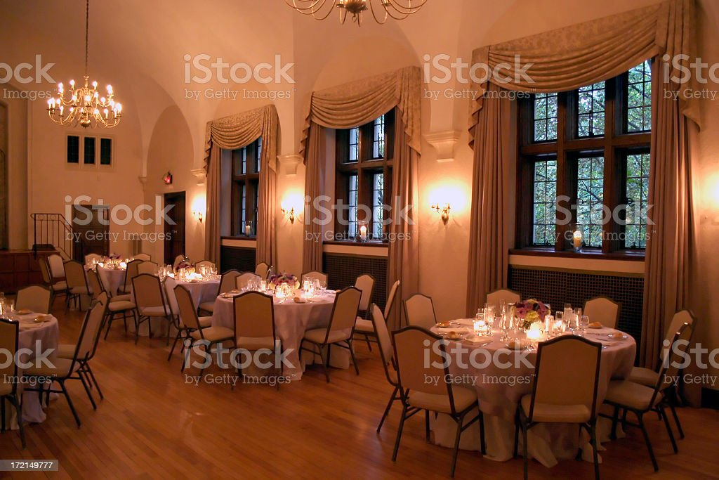 Formal Wedding Dinner Interior royalty-free stock photo