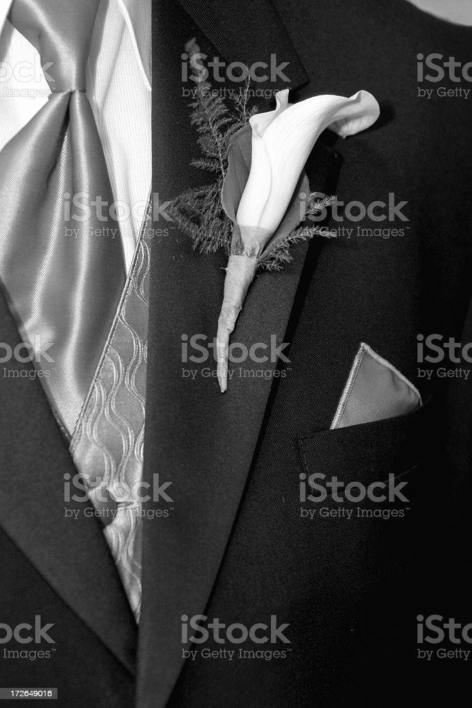 Formal wedding tuxedo royalty-free stock photo